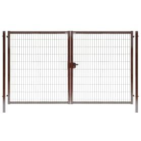 Ворота Medium 2.03x3.5 м цвет коричневый RAL 8017