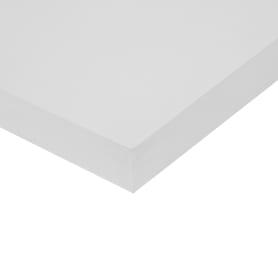Деталь мебельная 200х600х16 мм ЛДСП, цвет белый премиум, кромка со всех сторон