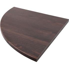 Полка мебельная угловая 350x350x16 мм, ЛДСП, цвет дуб термо тёмный