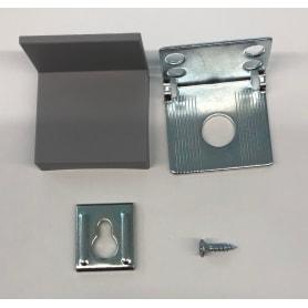 Крепление настенное SPACEO KUB 35х50 мм, сталь, цвет серебристый, 2 шт.