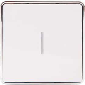 Выключатель Gallant с подсветкой, 1 клавиша, цвет белый