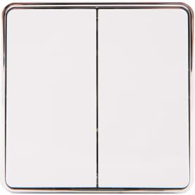 Выключатель накладной Werkel Gallant 2 клавиши, цвет белый