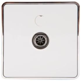 ТВ-розетка Werkel, Gallant, оконечная цвет белый