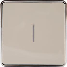 Выключатель Gallant с подсветкой, 1 клавиша, цвет слоновая кость