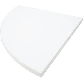 Полка мебельная закруглённая секторальная 350x350х16 мм, ЛДСП, цвет белый премиум