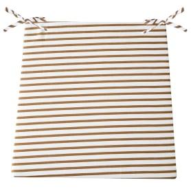 Сидушка для стула «Прикосновение», 40х35 см, цвет коричневый