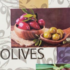 Скатерть «Оливки», ПВХ, 160x135 см
