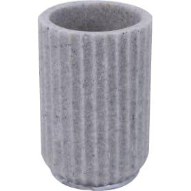 Стакан для зубных щёток «Cork», полирезина, цвет серый