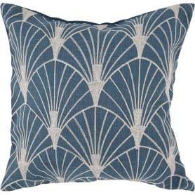 Наволочка декоративная GreatGatsby, 40x40 см, веер, цвет синий