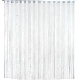 Кисея, 300x280 см, цвет белый/серебристый