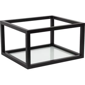Полка-каркас для кухни 22х35х40 см, алюминий/стекло