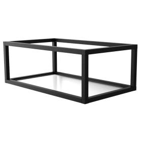 Полка-каркас для кухни 22х35х60 см, алюминий/стекло