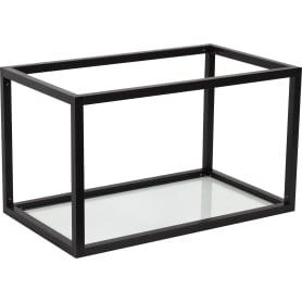 Полка-каркас для кухни 35х35х60 см, алюминий/стекло