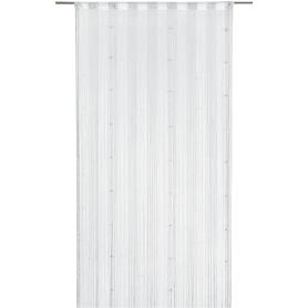 Штора нитяная Inspire «Куб», 150х280 см, цвет белый/серебристый