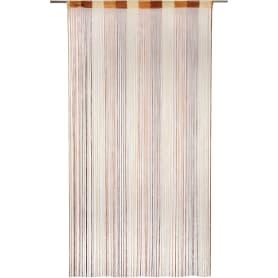 Штора нитяная Inspire, 150х280 см, цвет серо-коричневый/шоколадный