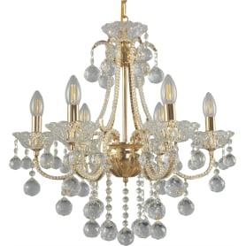 Люстра подвесная Eurosvet Ariella 10044/6, 6 ламп, 29 м², цвет золото