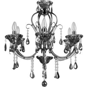Люстра подвесная Eurosvet Kaolla 3426/6, 6 ламп, 18 м², цвет чёрный