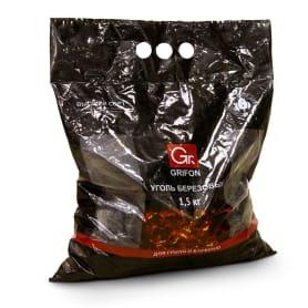 Уголь древесный берёзовый Grifon, 1.5 кг.