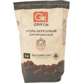 Уголь древесный берёзовый Grifon, 3 кг.