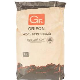 Уголь древесный берёзовый Grifon, 5 кг.