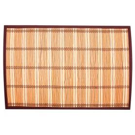 Салфетка сервировочная «Бамбук-3», 30х45 см, цвет коричневый