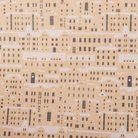 Бумага упаковочная крафт «Домики» 50х70/2 листа