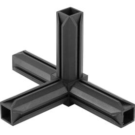 Соединитель пластиковый для трубы 20x20 мм, 4-палый, смежный