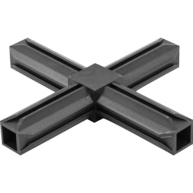 Соединитель пластиковый для трубы 20x20 мм, 4-палый, крестовой