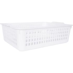 Корзинка универсальная, 315x220x85 мм, пластик, цвет белый
