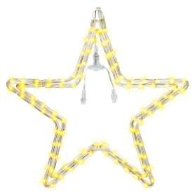 Электрогирлянда светодиодная для улицы «Звезда» 96 ламп, свет тёплый белый