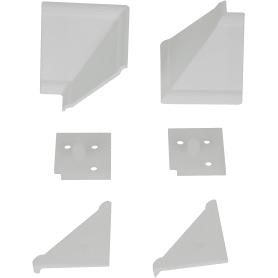 Комплект для установки плинтуса, цвет белый
