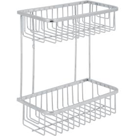 Полка для ванной комнаты Verran прямоугольная двухъярусная, 25x30x13.3 см