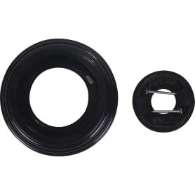 Рамка для розеток и выключателей, 1 пост, цвет чёрный