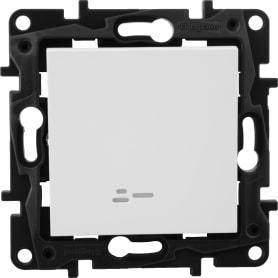 Выключатель Legrand «Structura», 1 клавиша, с подсветкой, цвет белый