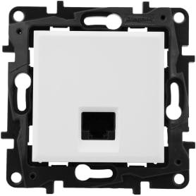 Розетка компьютерная Legrand «Structura» RJ45 UTP, категория 5E, цвет белый