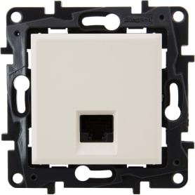 Розетка компьютерная Legrand «Structura» RJ45 UTP, категория 5E, цвет слоновая кость