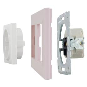 Рамка для розеток и выключателей Legrand Structura 2 поста, цвет розовый