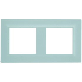 Рамка для розеток и выключателей Legrand Structura 2 поста, цвет голубой