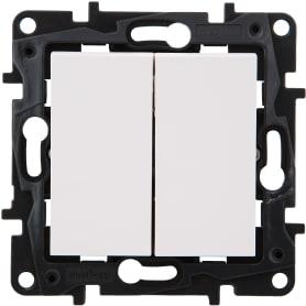 Переключатель Legrand «Structura», 2 клавиши, цвет белый