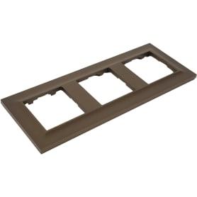 Рамка для розеток и выключателей Legrand Structura 3 поста, цвет бронза