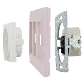 Рамка для розеток и выключателей Legrand Structura 3 поста, цвет розовый
