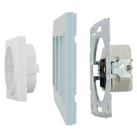 Рамка для розеток и выключателей Legrand Structura 3 поста, цвет голубой