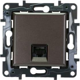 Розетка компьютерная Legrand «Structura» RJ45 UTP, категория 5E, цвет магнезиум
