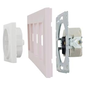 Рамка для розеток и выключателей Legrand Structura 4 поста, цвет розовый
