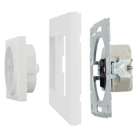 Рамка для розеток и выключателей Legrand Structura 2 поста, цвет белый