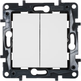 Выключатель Legrand «Structura», 2 клавиши, цвет белый