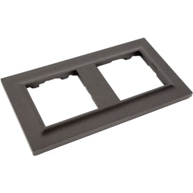 Рамка для розеток и выключателей Legrand Structura 2 поста, цвет магнезиум