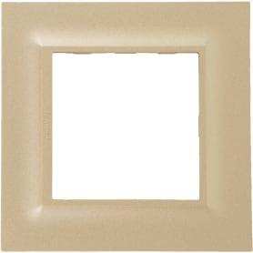Рамка для розеток и выключателей Legrand Structura 1 пост, цвет золото