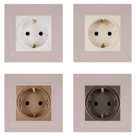 Рамка для розеток и выключателей Legrand Structura 1 пост, цвет розовый