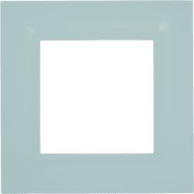Рамка для розеток и выключателей Legrand Structura 1 пост, цвет голубой
